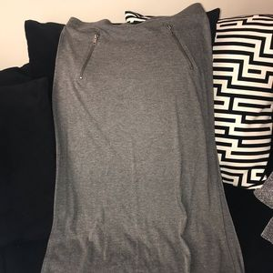 Gray Skirt with splits on the side